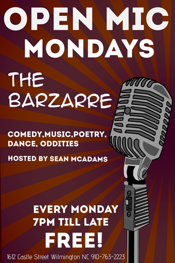 open mic at barzarre NC